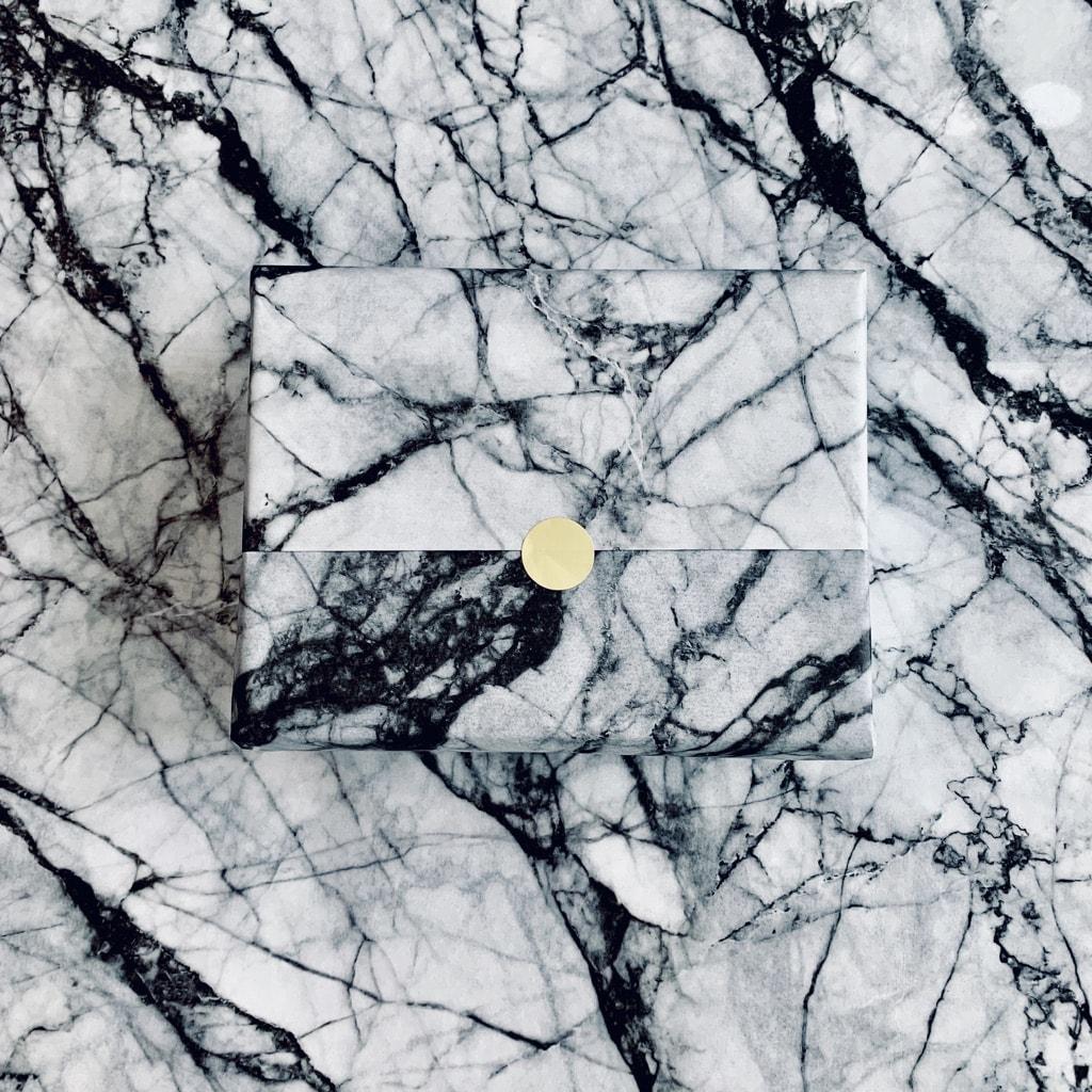 The Mini Edit marbled custom tissue paper design
