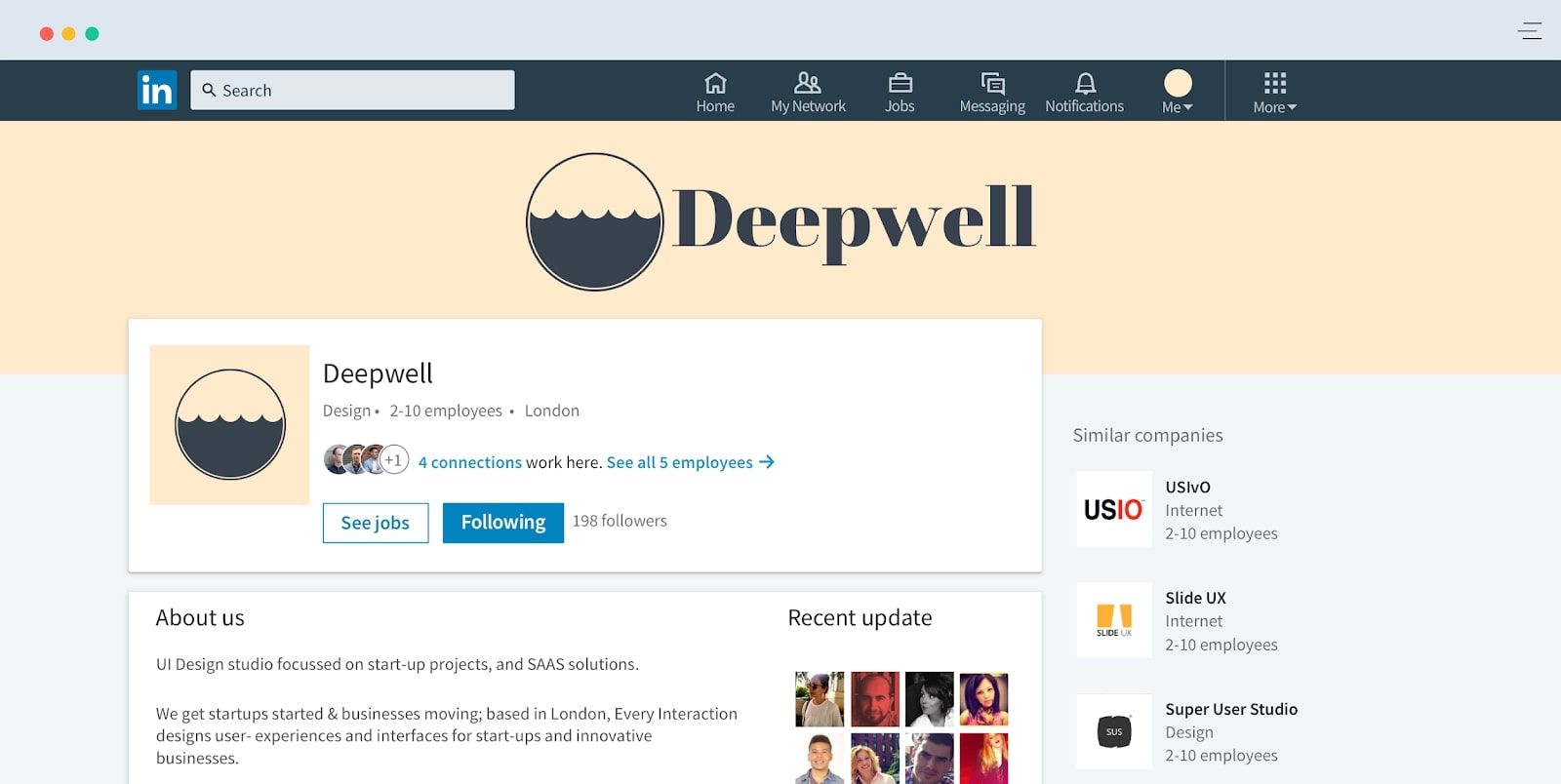 Deepwell Linkedin profile