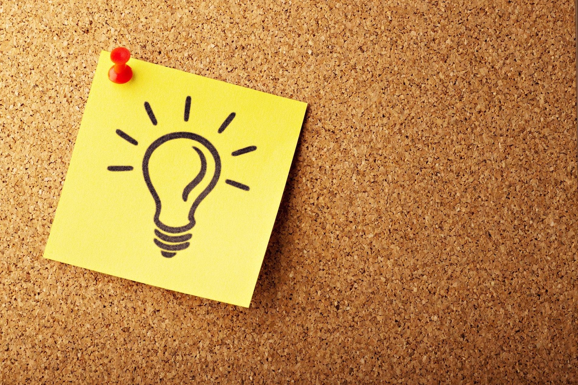 Lightbulb postage note