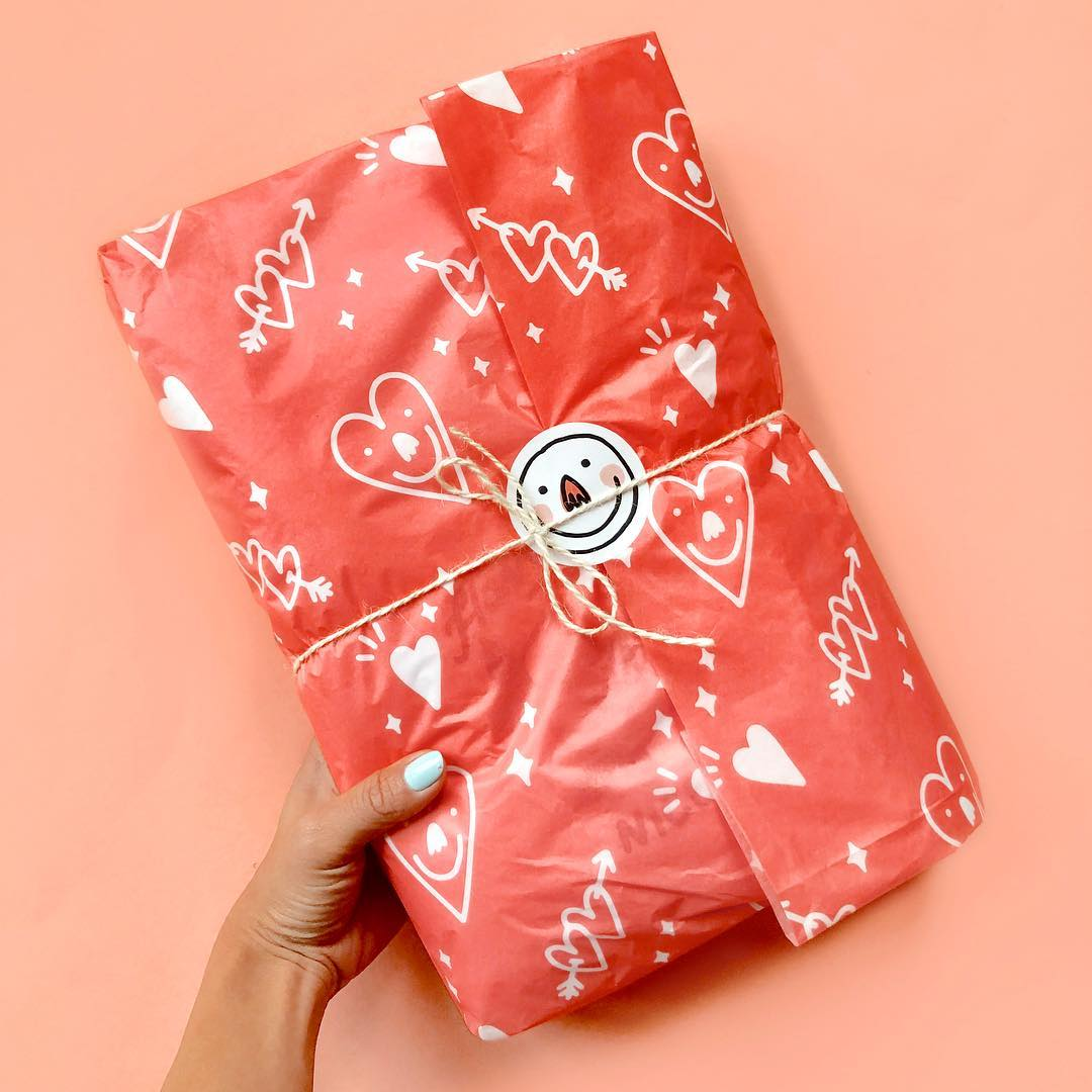 Valentine's day-themed seasonal packaging