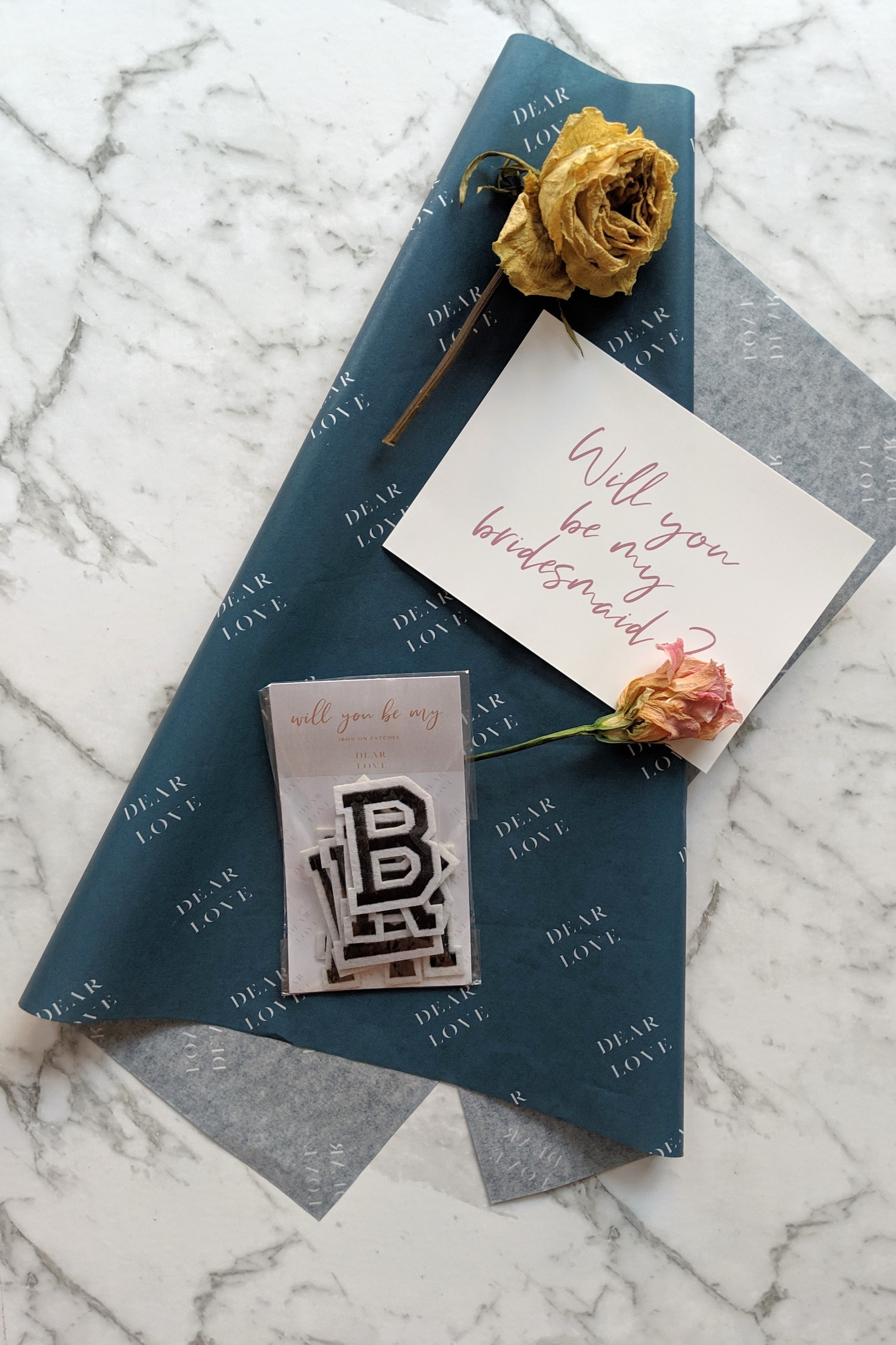 Dear Love custom tissue paper with thank you note