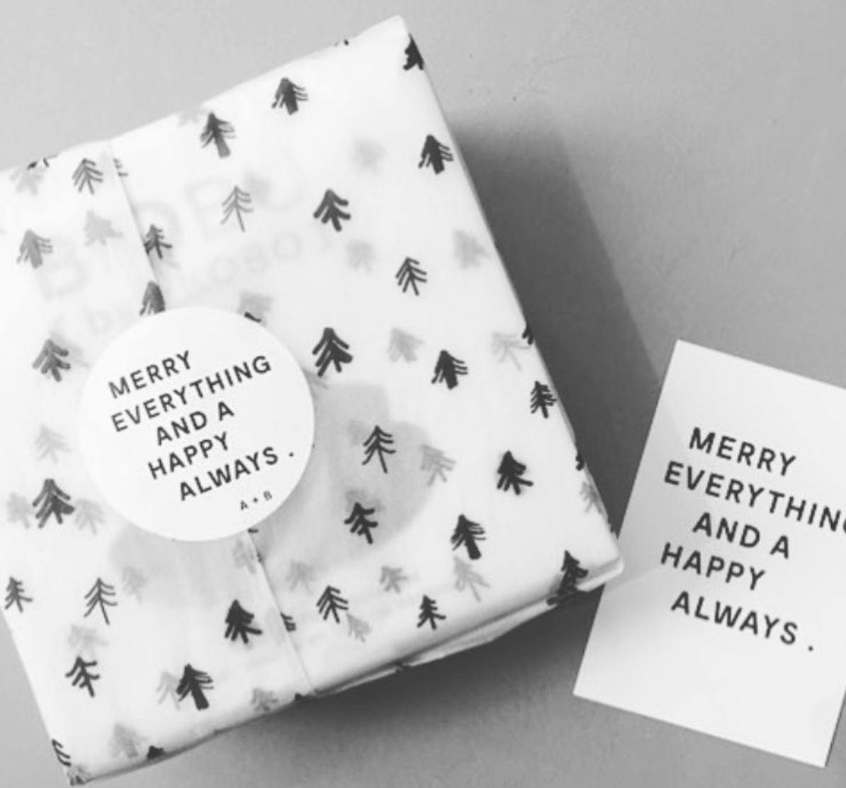 Custom holiday stickers by Der Kleine Salon