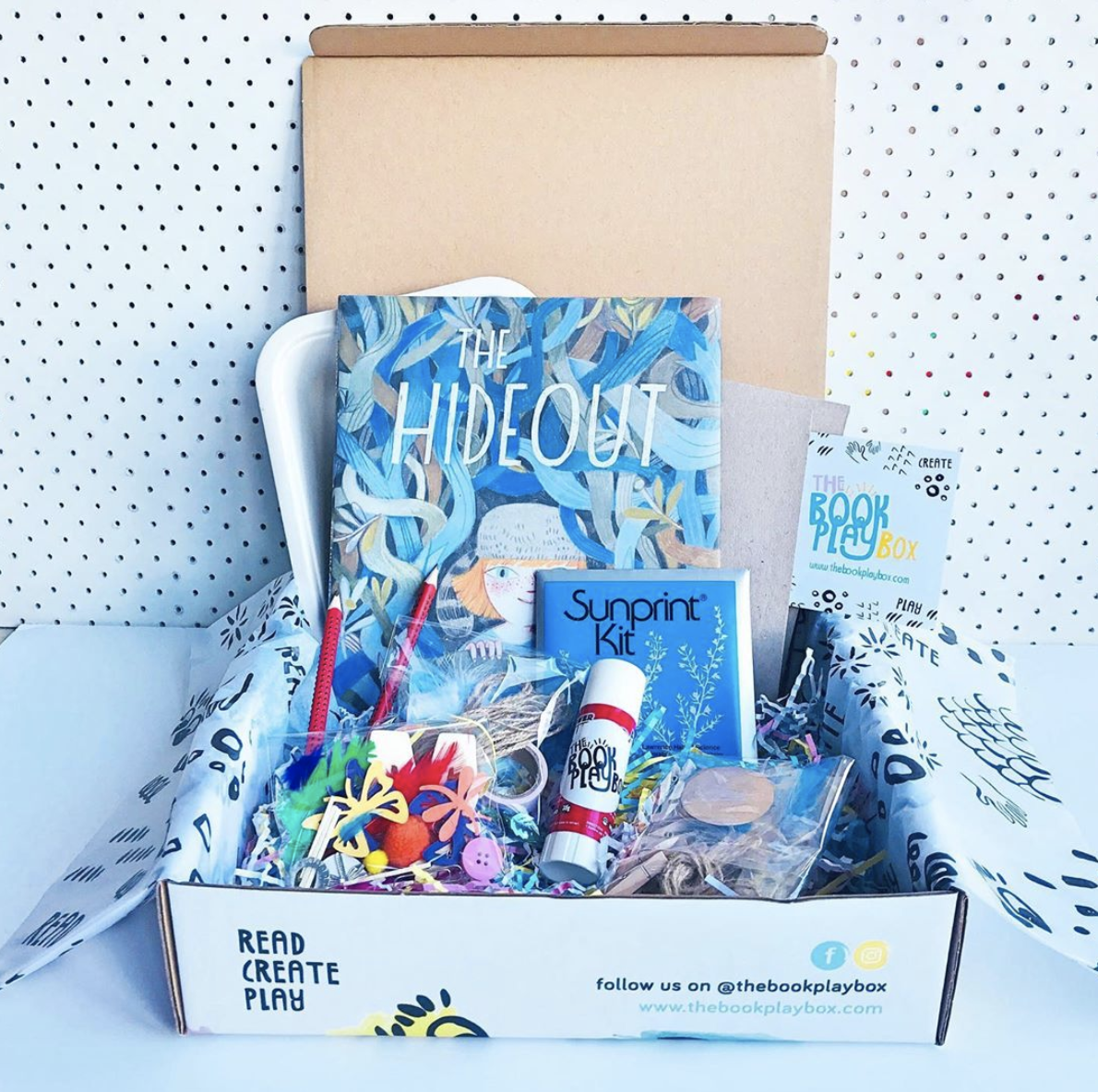 The Book Playbox box with products