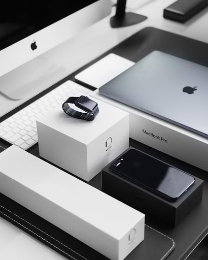 Apple product boxes