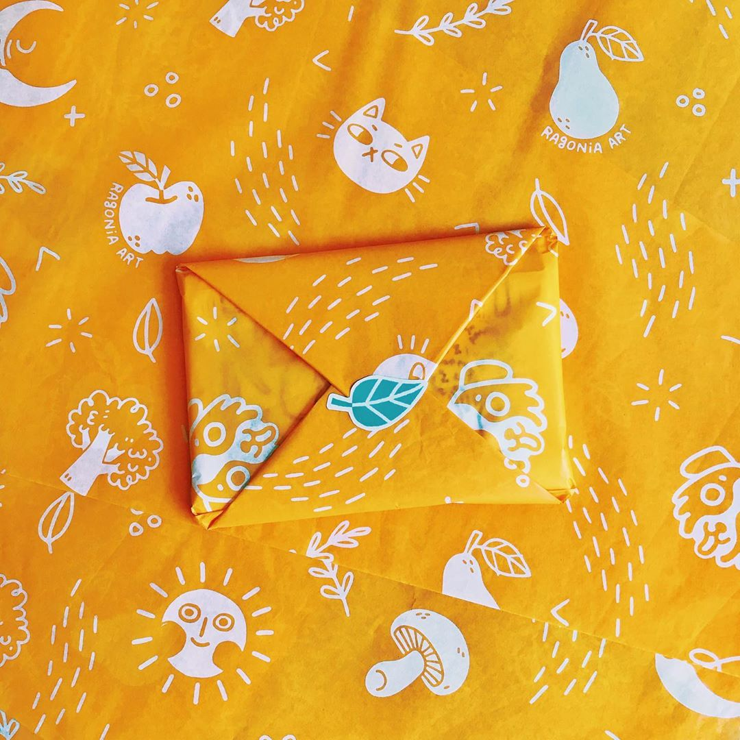 Orange custom tissue paper with surface patterns