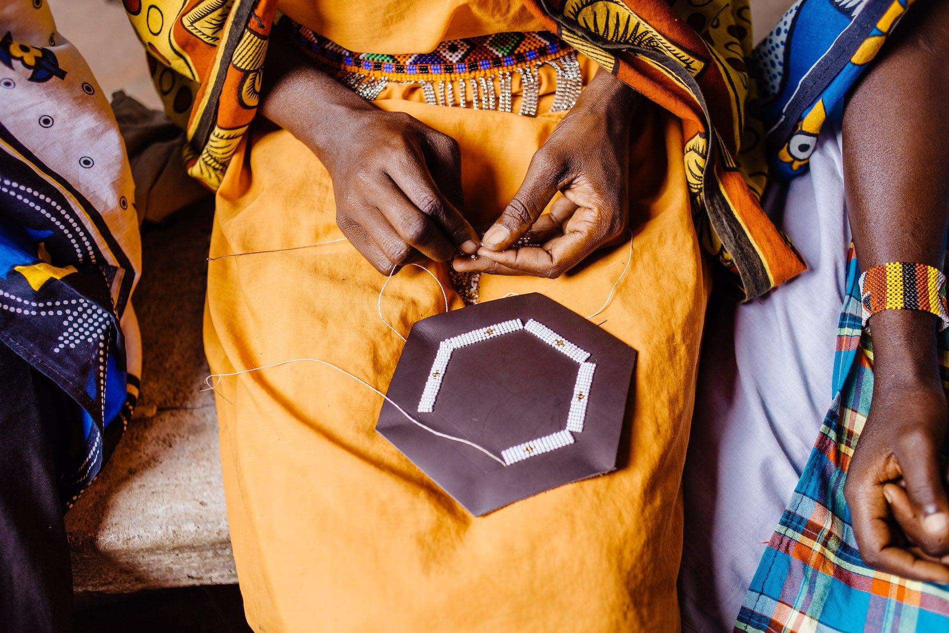 Woman making jewellery