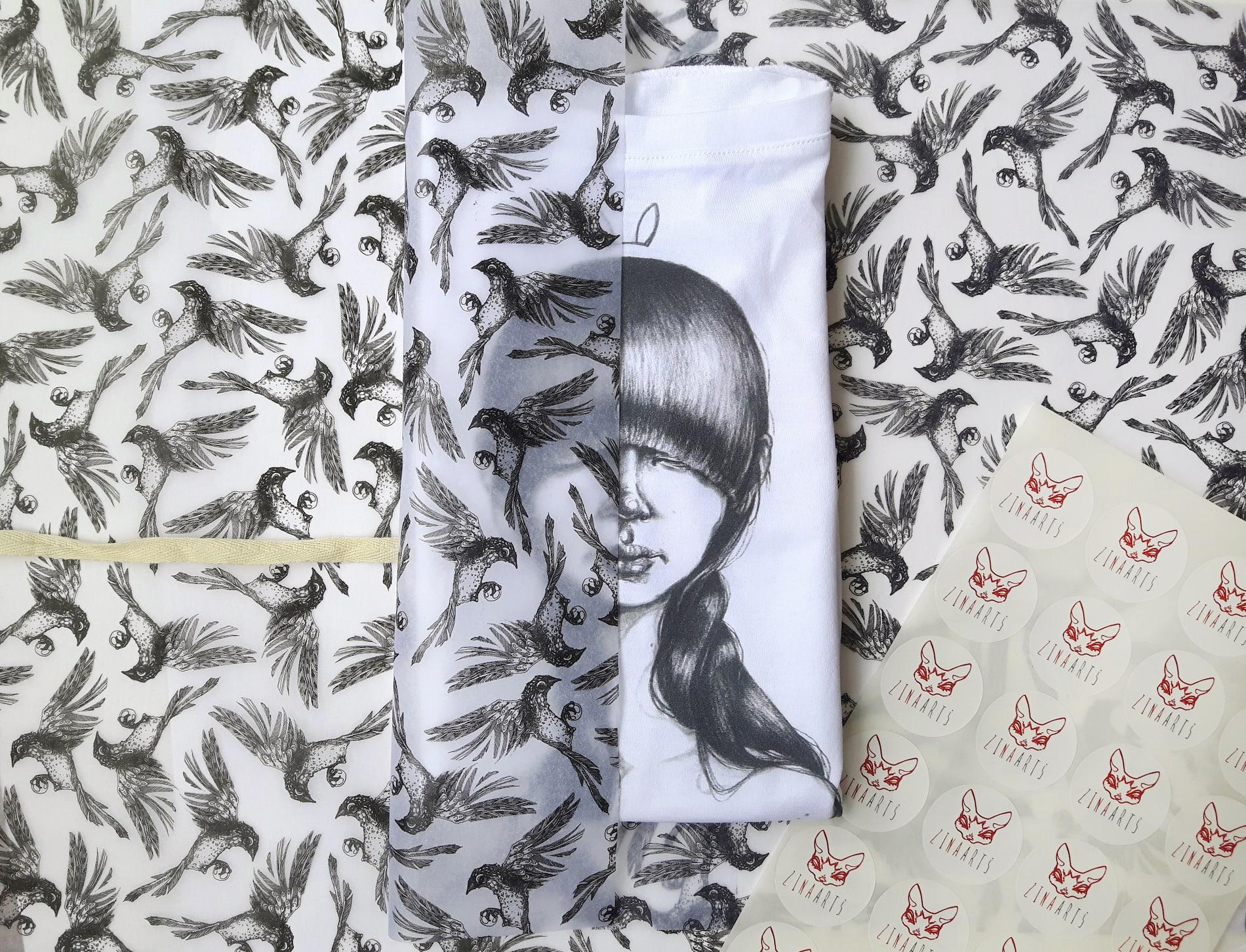 Zina Arts custom tissue paper